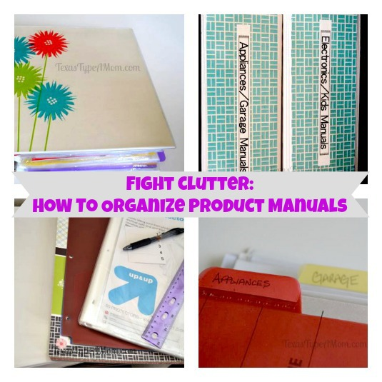 Home Organization Manual Binder