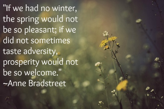 Anne Bradstreet Spring Quote