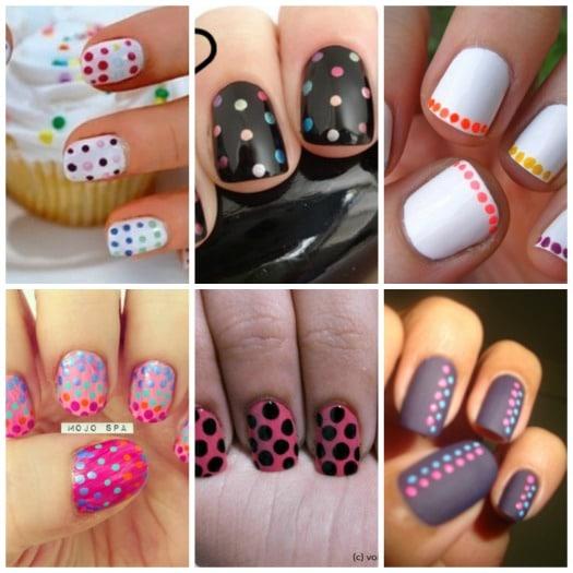 Color Blocking Polka Dot Nails