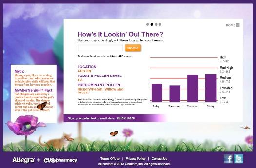 allegra pollen alerts