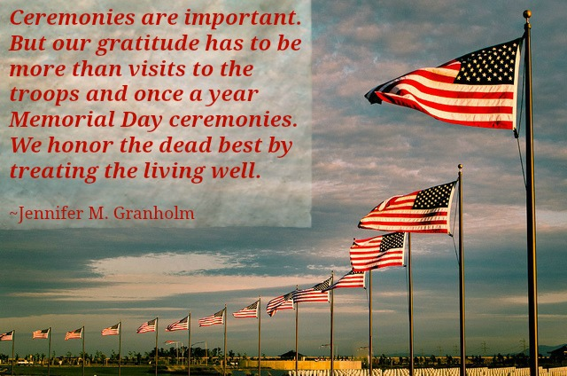 Memorial Day quote and saying about honoring the living
