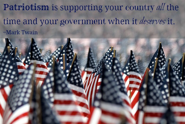Mark Twain Patriotism Quote