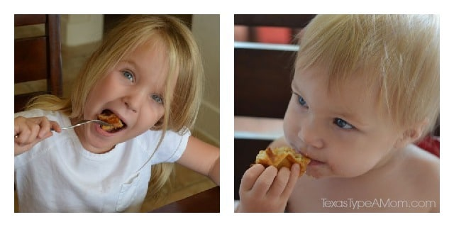 Kids Eating Churro Waffles