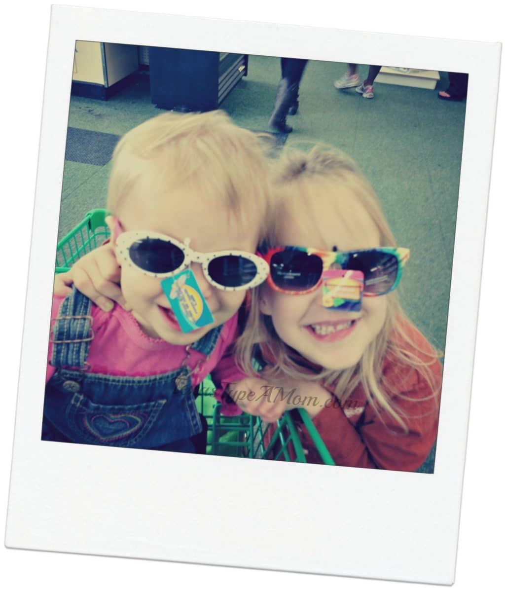 Trying on Children's Sunglasses