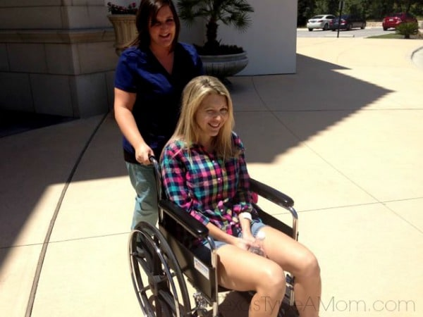 wheelchair after breast augmentation