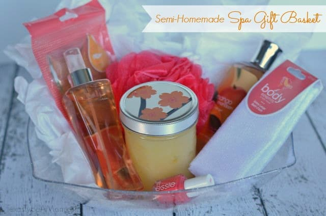 Semi-Homemade Spa Gift Basket