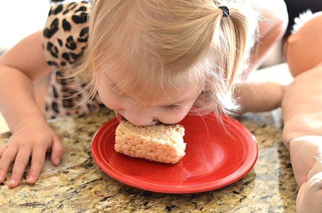 Cupcake Eating Milky Way Simply Caramel Rice Krispie Treat #shop #EatMoreBites