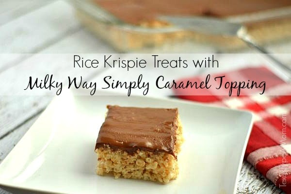 16 - Rice Krispie Treats with Milky Way Simply Caramel Topping Horizontal