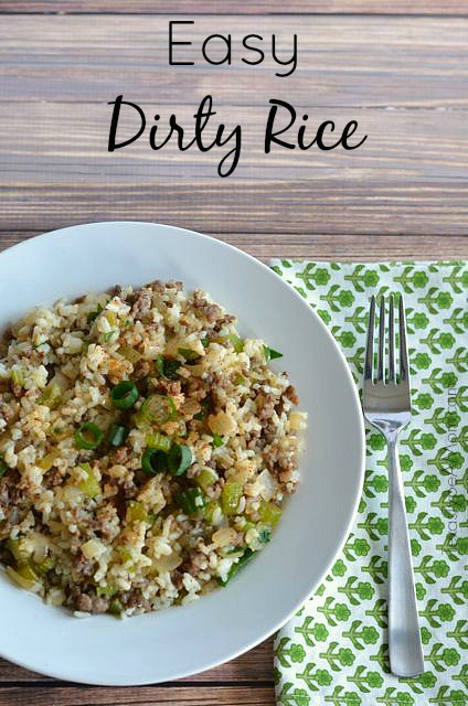 Don't sacrifice time or flavor on your next Cajun feast with this Easy Dirty Rice recipe! Delicious one pot meal or Thanksgiving side dish. #dirtyrice #ricerecipes #cajunrecipes #ricedressing #sausagerecipes #thanksgivingside