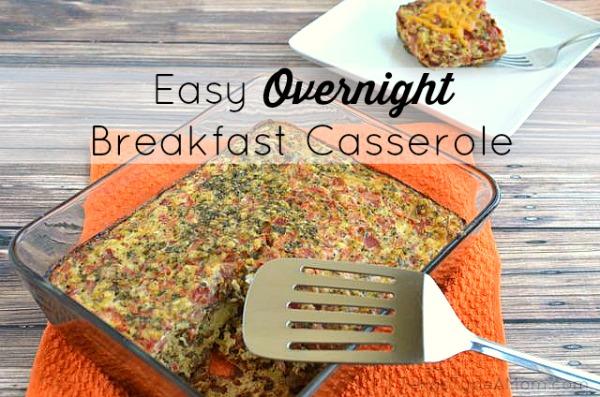 Easy Overnight Breakfast Casserole #Recipe