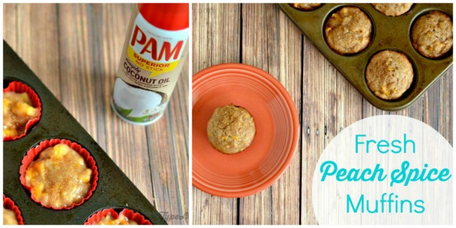 PAM Fresh Peach Spice Muffins Collage
