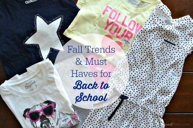 Fall Trends & Must Haves for Back to School