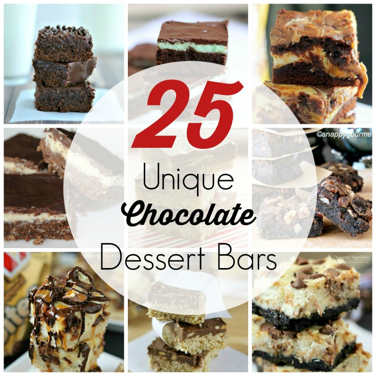 Chocolate is always a good idea, but it's time to mix things up. These 25 Unique Chocolate Dessert Bars are the perfect chocolate dessert recipes when you're craving something different yet equally delicious!