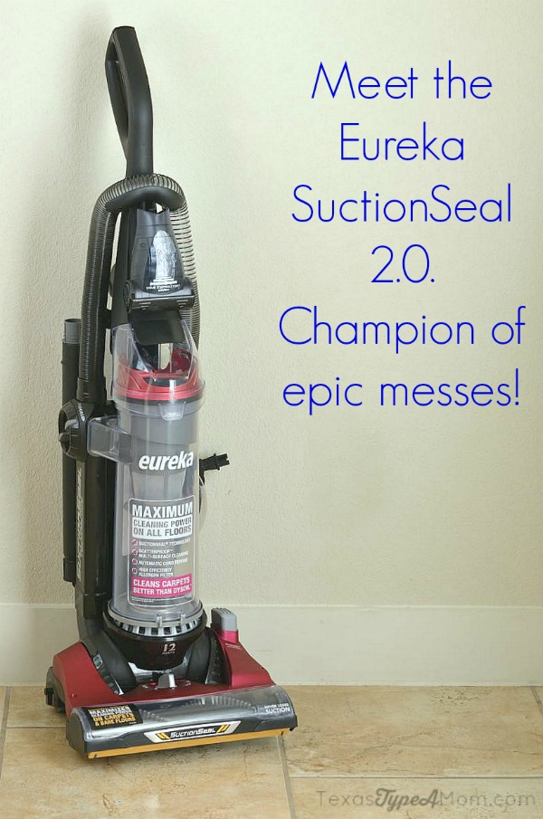 Eureka SuctionSeal 2.0 champion of epic messes #EurekaPower #ad