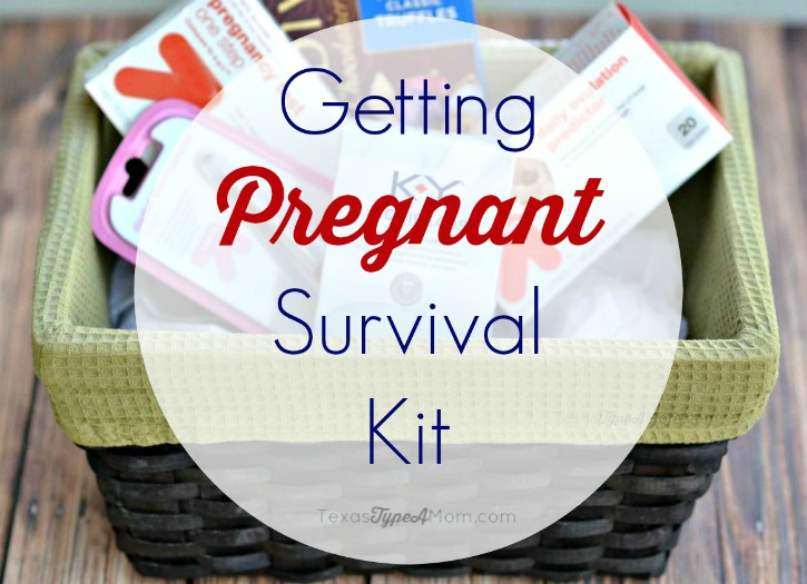 Survive the ups and downs of trying to conceive with this Getting Pregnant Survival Kit. These items are almost everything you need to survive your journey to conceive a baby.