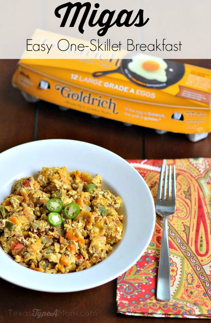 Migas Recipe Easy One Skillet Breakfast #GoldrichYolk