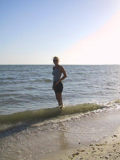 Kelly in Clearwater on Honeymoon