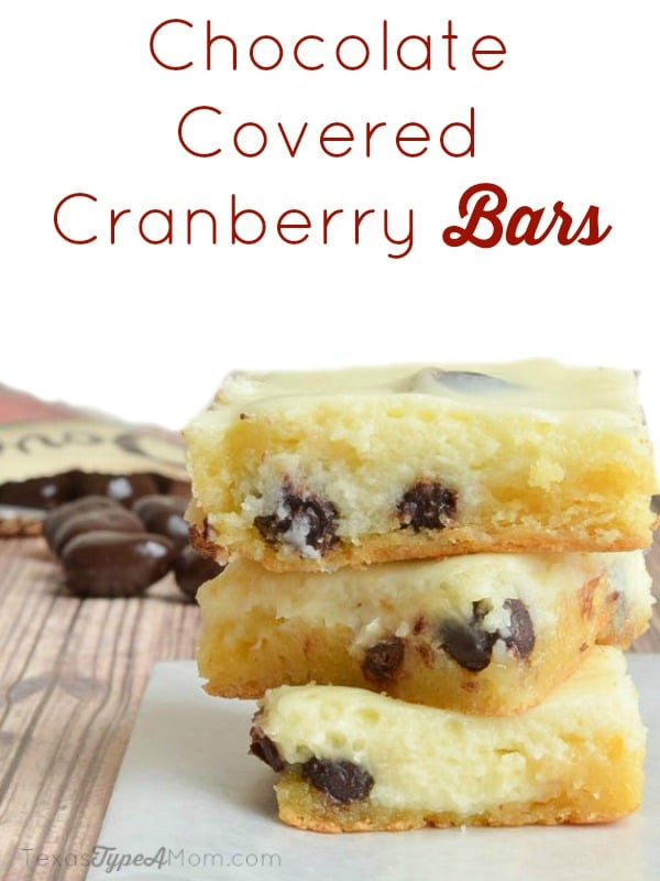 Labeled Chocolate Covered Cranberry Bars #LoveDoveFruits #ad