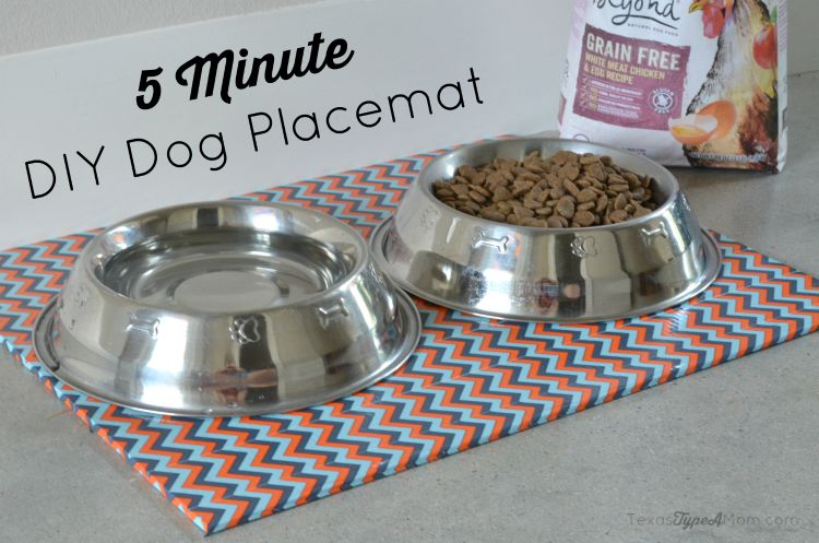 5 Minute DIY Dog Placemat #PetsLoveBeyond #ad