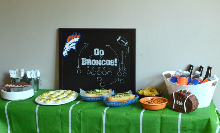 Football Homeagating Party Spread