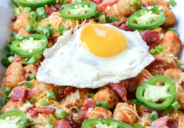 Delicious appetizer or meal idea! Easy Totchos Recipe with Bacon