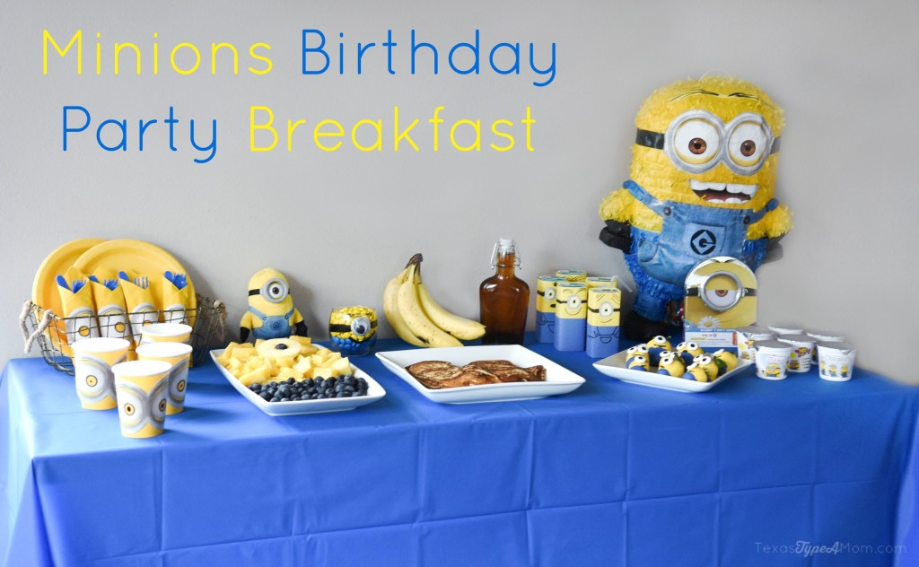 Throw your own Minions Birthday Party Breakfast with this easy plan! Plus recipes for Minions pancakes and Minions Candy Covered Strawberries!