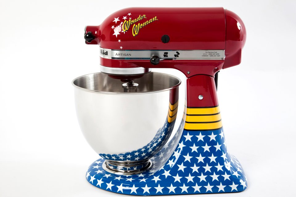 lovely Designer Kitchen Aid Mixers #2: Wonder Woman KitchenAid mixer
