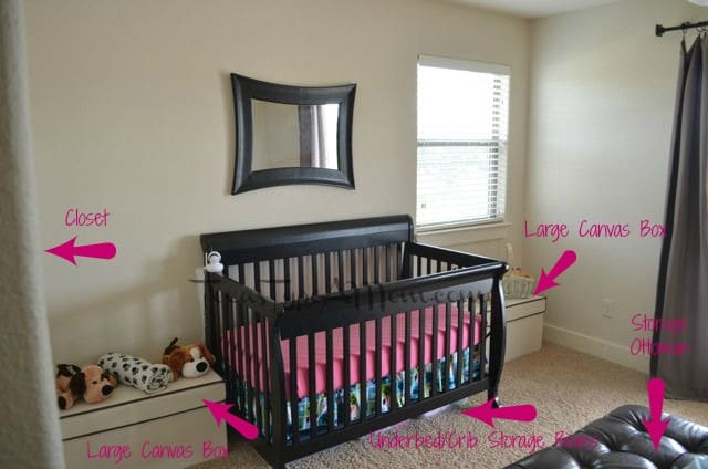 Organizing and storage ideas for small spaces - Nursery ideas small spaces style ...