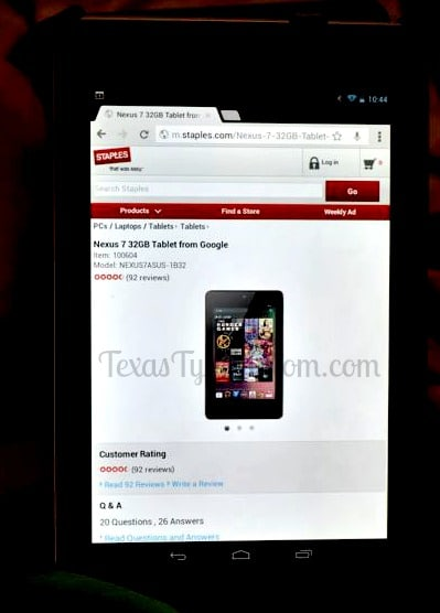 Nexus 7 from Staples.com