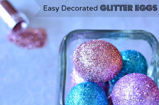 Easter decorations don't have to be expensive. An easy, yet thrifty tutorial on How to Make Glitter Decorated Easter Eggs.