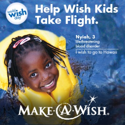 Help Make-A-Wish Dreams Come True for #WorldWishDay