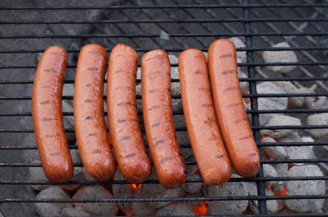 Hebrew National Hot Dogs on the Grill