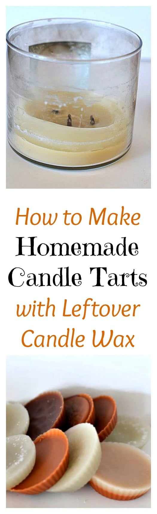 Stop throwing your hard earned money away! Don't toss out the wax after a candle's wick has come to an end, instead learn how to make homemade candles...well homemade candle tarts.