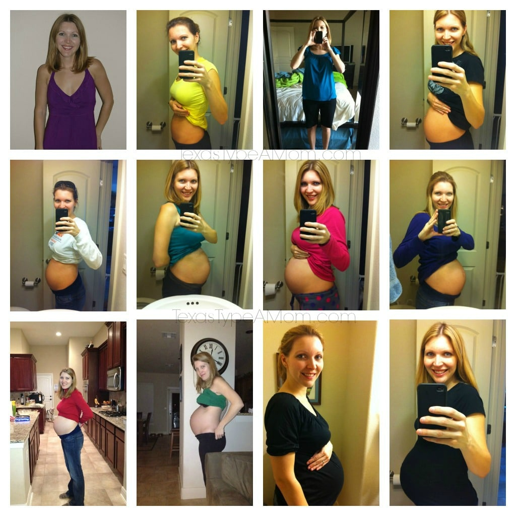 2nd Pregnancy Belly Collage