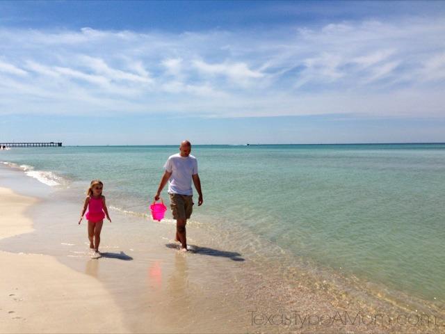 Family Walking on the Gulf Coast