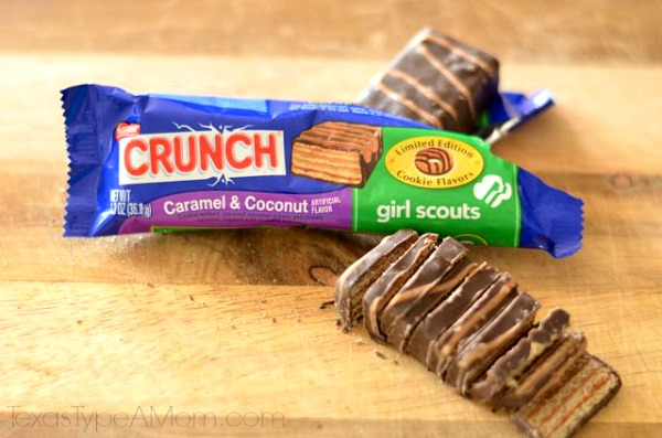 Nestle Crunch Caramel & Coconut Girl Scout bar
