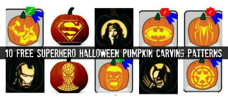 FREE Superhero Halloween Carving Patterns