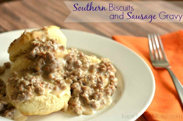 Ad: Southern Biscuits and Gravy Recipe #shop #TheWrightBreakfast