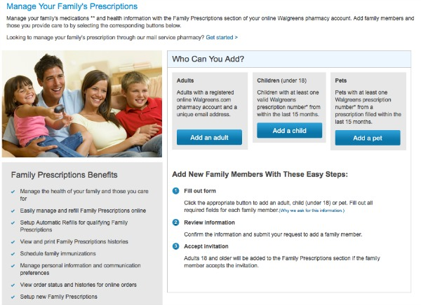Walgreens Family Prescription Management #shop #walgreensrx