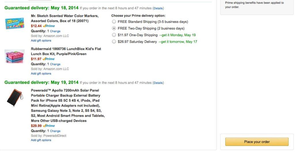 #AmazonCart Checkout Screen #shop #cbias