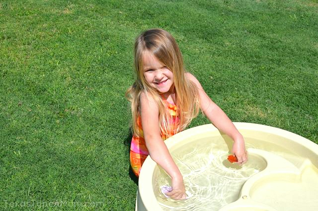 Summer Water Table Fun
