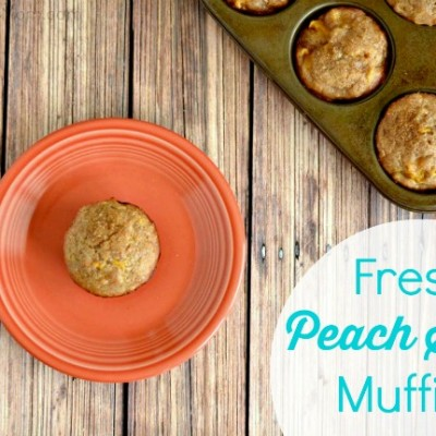 Fresh Peach Spice Muffins Recipe