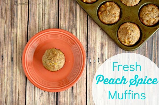 Fresh Peach Spice Muffins Recipe