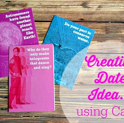 Creative Date Idea Using Cards + Chili Cheese Fries Recipe