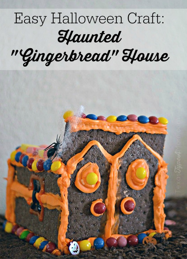 Buy your Halloween candy in bulk this year. You can use it for snacking before Halloween, trick or treaters, and for decorations like with this fun and easy Halloween craft idea for kids... a Haunted Gingerbread House!