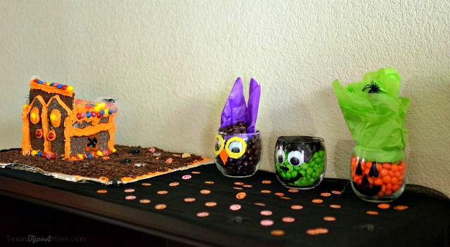 Halloween Haunted House and DIY Candy Filled Jars