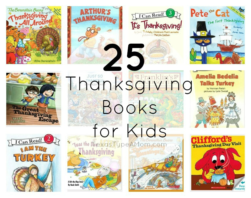 As we head into the Thanksgiving season, teach your family it's not just about turkey with these 25 Thanksgiving Books for Kids! #thanksgiving #thanksgivingbooks #booksforkids #holidaybooksforkids #thanksgivingbooksforkids