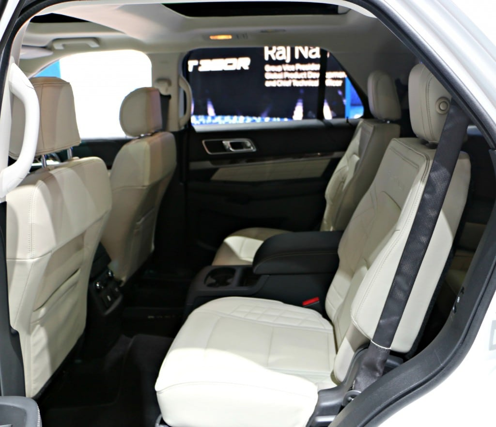 2016 Ford Explorer Backseat #Ford NAIAS