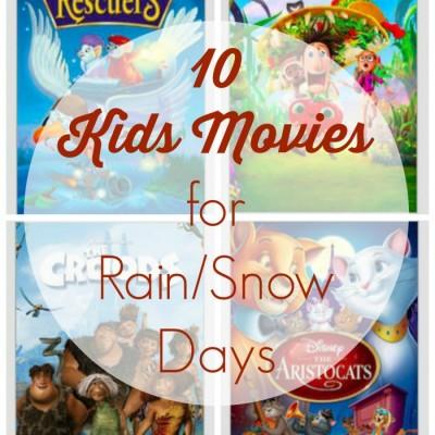 10 Kids Movies for Rain/Snow Days on Netflix Streaming