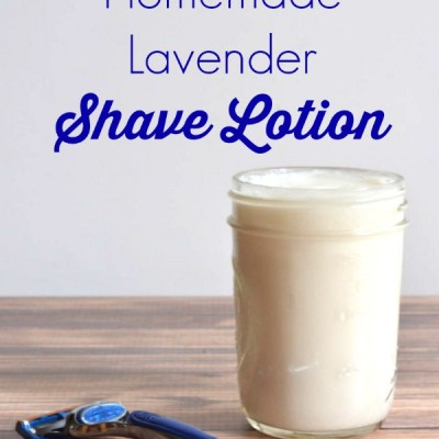 4 Ingredient Lavender Homemade Shave Lotion